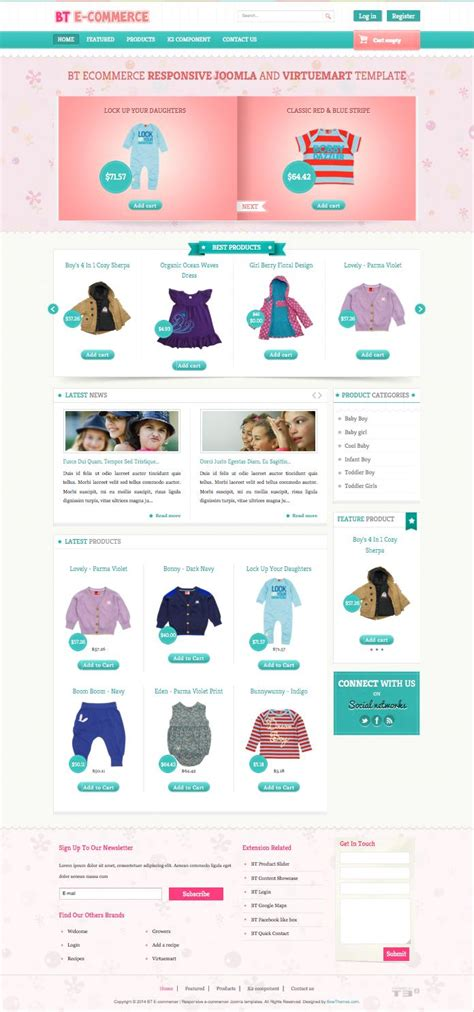 joomla template ecommerce bt e commerce joomla template for toddler baby store