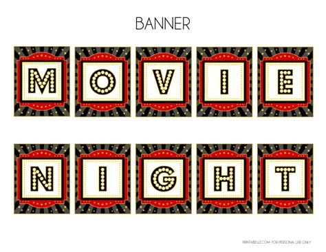 printable movie party decorations free movie night party printables by printabelle catch