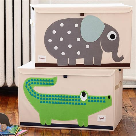 playroom storage containers 3 sprouts elephant toy storage box with handles the