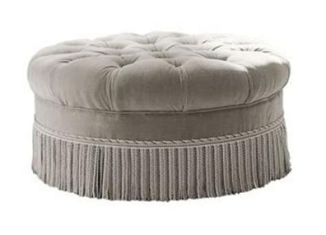 round tufted ottoman with fringe round ottoman with fringe detail retail collaboration
