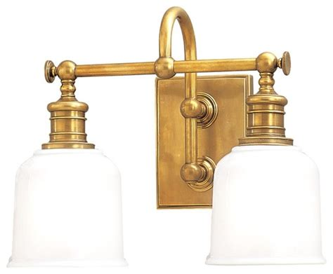 vintage style aged brass bathroom wall light industrial