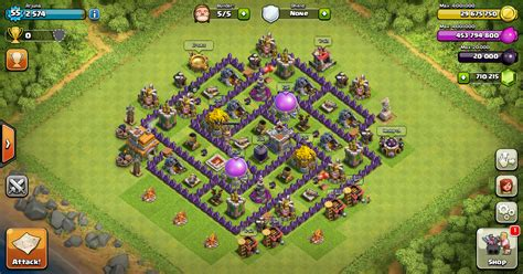 layout coc paling kuat th 7 design farming base clash of clans th 7 design base