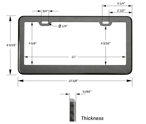 Tag For Standard Size Of Carbon Fiber License Plate Frame