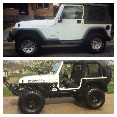 spyder jeep before and after 2005 jeep tj poison spyder jeep