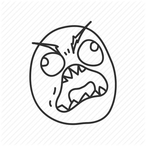 Fuuu Meme - angry derp emotion funny fuuu meme reaction icon