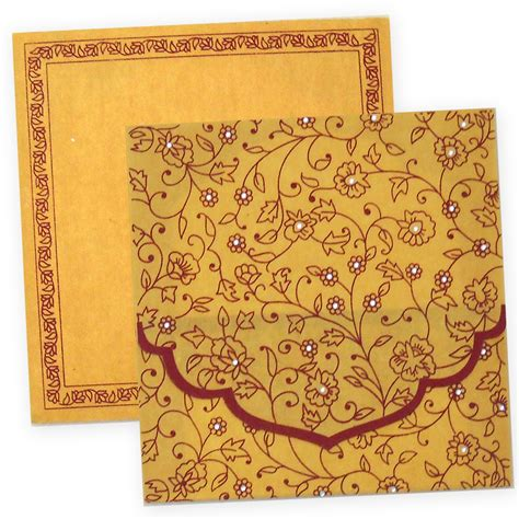 Wedding Invitation Card Of Hindu by Exclusive Hindu Wedding Invitation Card With Wooly Fabric