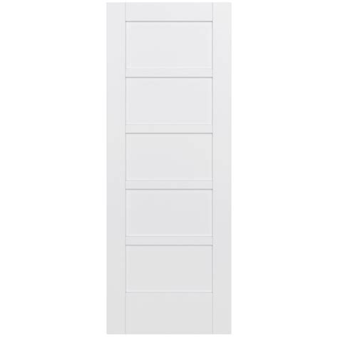 Jeld Wen 32 In X 80 In Moda Primed White 5 Panel Solid 32 Interior Door