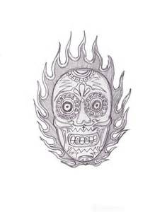 flame skull old tattoo by kamil666 on deviantart
