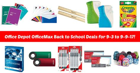 office depot officemax back to school deals for 9 3 to 9 9 17