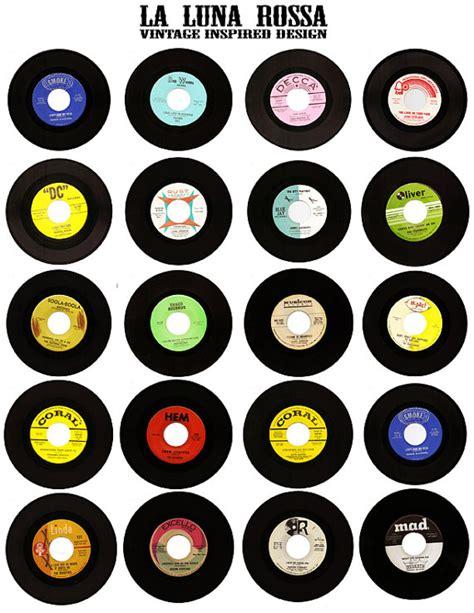 digital printable vinyl vintage vinyl records ephemera clip art digital collage