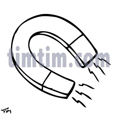 Horseshoe Magnet Coloring Page Coloring Pages Magnet Coloring Pages