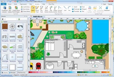 Home Floor Planner by Simple Garden Design Software Make Great Looking Garden