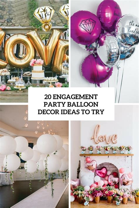 engagement party balloon decor ideas   shelterness