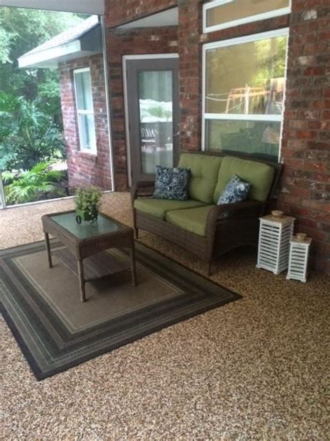 diy epoxy stone flooring patio flooring diy flooring