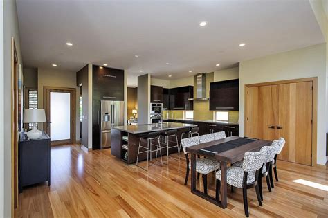 contemporary style home in burlingame california kitchen dining space modern home in burlingame california