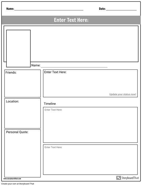 Create a Social Media Worksheet | Project Ideas