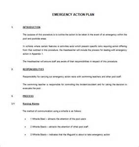 Emergency Plan Template For Businesses by Emergency Plan Template 8 Free Sle Exle