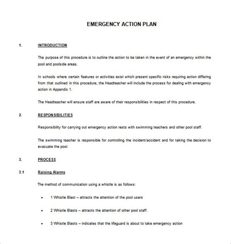 4 emergency action plan template nurse resumed