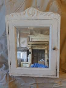 antique shabby white medicine cabinet cupboard decorative