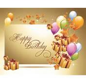 Ornate Happy Birthday Postcards Design Vector Set 02