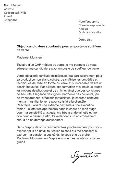Lettre De Recommandation Bénévole Lettre De Motivation Souffleur De Verre Mod 232 Le De Lettre