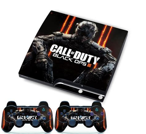 Sticker Playstation call of duty skin sticker cover set for ps3 playstation 3 slim console ebay