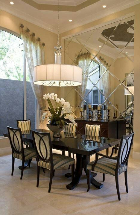 Dining Room With Mirror On The Wall by Dining Room Decor Mirrored Wall For The Home