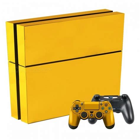 Ps4 Sticker Gold by Gold Plating Ps4 Slim Skin Sticker Decal For Sony