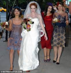 Mad Men star Christina Hendricks says 'I do' as she
