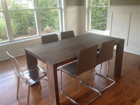 Cb2 Dining Room Table Cb2 Wood Dining Room Table And Chairs Fairfield Ct Patch