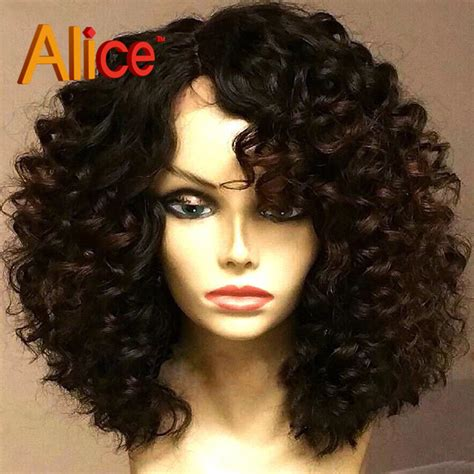 black human curly fall pics of short curly wigs colorful cheap wigs