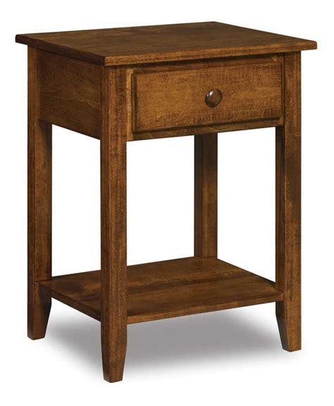 Horizon Shaker Nightstand Amish Crafted - shaker 1 drawer open nightstand amish direct furniture