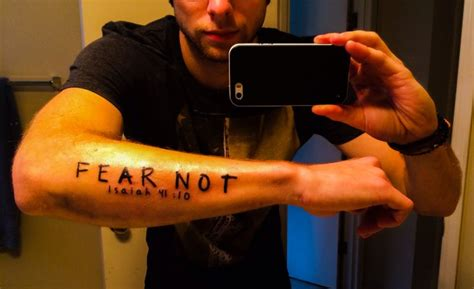 good first tattoos for guys my forearm verse fear not isaiah 41 10