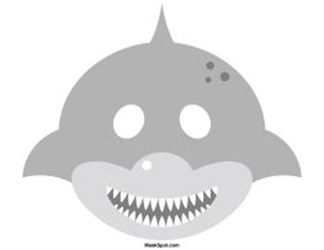 printable fish mask template shark mask templates including a coloring page version of