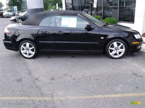 saab convertible black black 2005 saab 9 3 arc convertible exterior photo