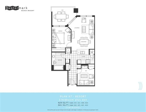 Watermark Floor Plan | watermark condos own watermark beach resort