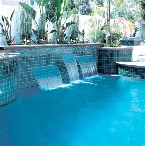 how to build a waterfall into a pool landscaping and outdoor building swimming pool