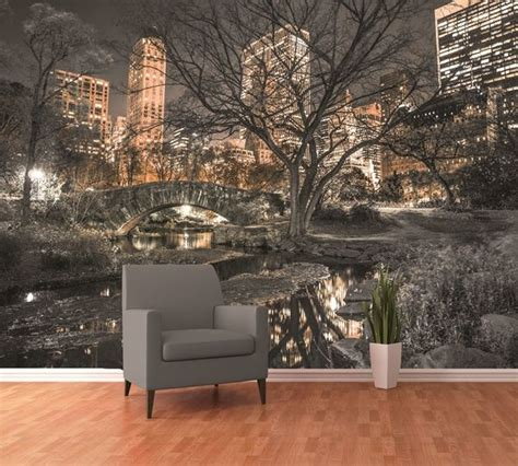 Moderne Wandgestaltung Wohnzimmer 5564 by Fotomural W4p Central Park 001 Fotomurales 1 Wall