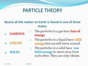 science esl matter amp particle theory