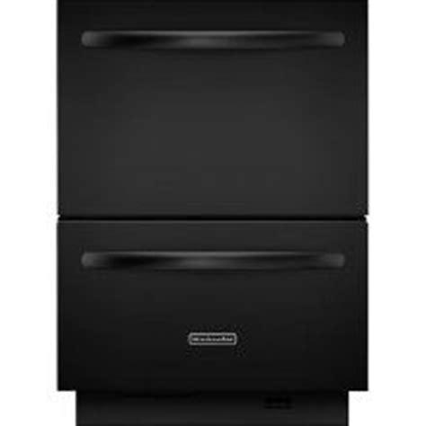 kitchenaid drawer style dishwasher kitchenaid double drawer dishwasher in black want one
