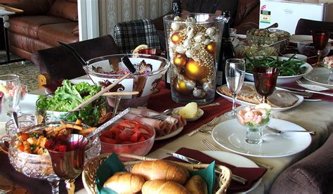 table set for christmas lunch christmas 2007 at clifton