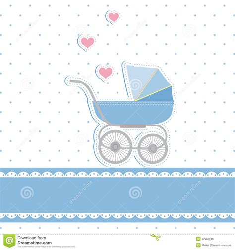 new baby greeting card template new baby boy shower invitation card stock vector