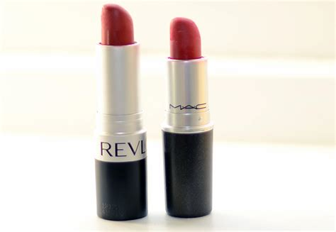 Lipstick Revlon Really lipstick comparison mac ruby woo vs revlon really forever uk fashion lifestyle