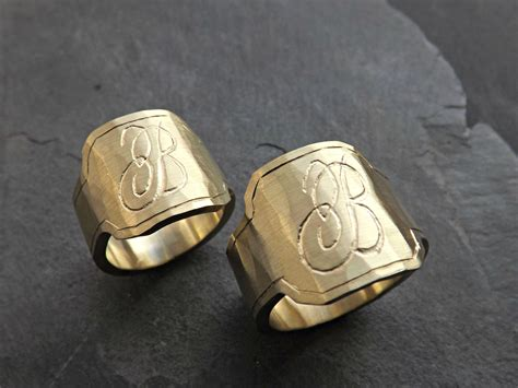Mens Bedroom Design buy a hand crafted mens signet ring brass engraved