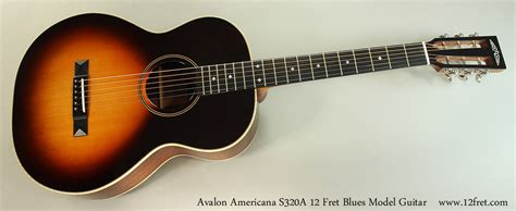 cara bermain fret gitar avalon americana s320a 12 fret blues model guitar