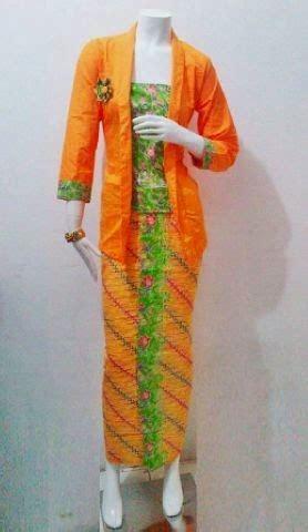 Setelan Kebaya Katun Tarya Orange model baju batik restock encim seri manohara batik bagoes