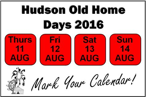 hudson nh home days 2016 hudson home dates