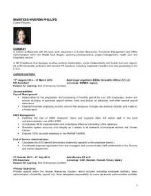 Best Resume Format For Hr Generalist by Cv April 2015 Hr Generalist Maritess Phillips