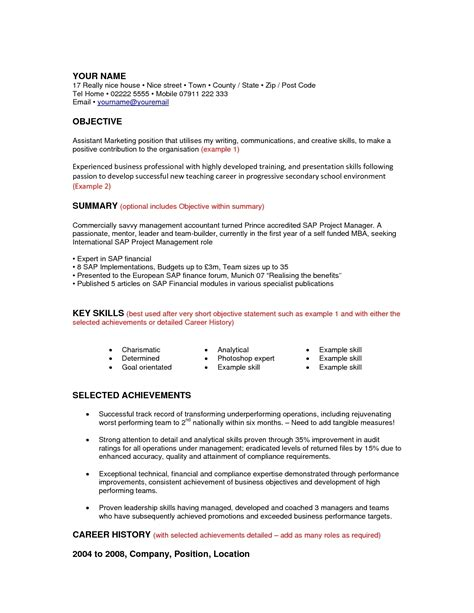 Sle Resume For A Career Change by Career Change Cover Letter Sle