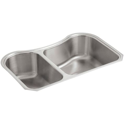 kohler undermount stainless steel kitchen sinks kohler staccato undermount stainless steel 32 in